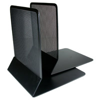Artistic Metal Mesh Bookends Black