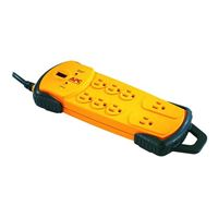 APC 7 Outlet Heavy Duty Surge Protector 800 Joules with 8 Foot Cord - Yellow