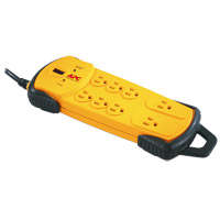 APC 8 Outlet Heavy Duty Surge Protector 800 Joules  with 15 Foot Cord - Yellow