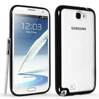 Technocel Hybrigel Case for Samsung Galaxy Note II - Clear/Black