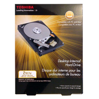 "Toshiba 2TB 7,200 RPM SATA 6.0Gb/s Desktop 3.5"" Internal Hard Drive PH3200U-1I72"