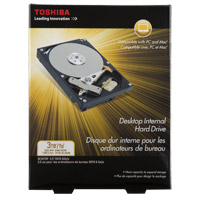 "Toshiba 3TB 7,200 RPM SATA III 6.0Gb/s 3.5"" Internal Hard Drive PH3300U-1I72"