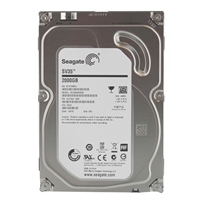 "Seagate SV35 2TB 7,200RPM SATA 6.0 Gb/s 3.5"" Surveillance Optimized Hard Drive ST2000VX000 - Bare Drive"