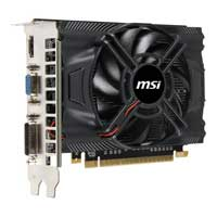 MSI NVIDIA GeForce GTX 650 1024MB GDDR5 PCIe 3.0 x16 OC Video Card