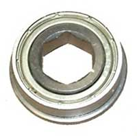 "AndyMark 1/2"" Hex Bore, Flanged, Shielded Ball Bearing (FR8ZZ-Hex)"