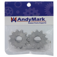AndyMark Double Sprocket Set #35 Series Hubbed Sprockets (am-2407)
