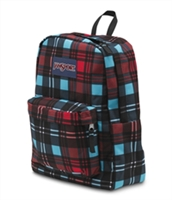 Jansport SuperBreak Standard Backpack - High Risk Red Preston Plaid