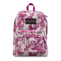 Jansport SuperBreak Standard Backpack - Berrylicious Vintage Floral Convas
