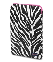 "Jansport 15"" Laptop Sleeve - Fluorescent Pink Miss Zebra"