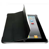 Inland Microfiber Cover/Stand for iPad 2 Black