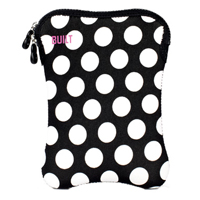 "Built NY Tablet Sleeve fits LCD Screens up to 8"" Black/White Dot"