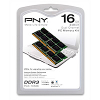 PNY 16GB DDR3-1333 (PC3-10666) SO-DIMM Laptop Memory Kit (Two 8GB Memory Modules)
