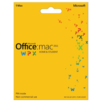 Microsoft Office 2011 Home & Student Medialess (Mac)
