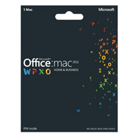 Microsoft Office 2011 Home & Business Medialess (Mac)