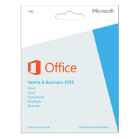 Microsoft Office 2013 Home & Business Medialess (PC)
