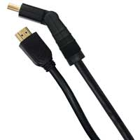 GE HDMI Male to HDMI Male High Speed Cable w/ Ethernet and Swivel Connector 6 ft. - Black