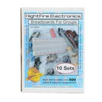 Nightfire Breadboarding Electronics for Groups #1 - 10 Sets