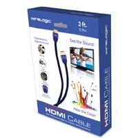 Wirelogic 3' Sapphire HDMI Cable Blue
