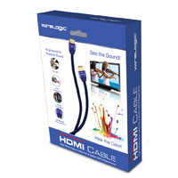 Wirelogic 9 ft. Sapphire HDMI Cable - Blue