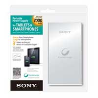 Sony USB 7,000mAh Power Bank - Silver