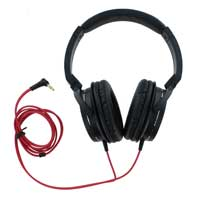 Audio Technica ATH-WS55 Solid Bass Over Ear Headphones - Black/Red