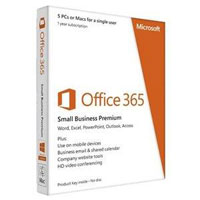Microsoft Office 365 Small Business Premium English 1-Year Subscription (Medialess)