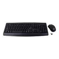 Inland Wireless Keyboard and Mouse Multimedia Combo - Black