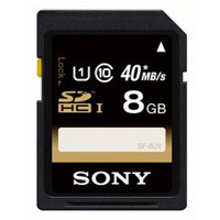 Sony 8GB Class 10 Secure Digital High Capacity/Ultra High Speed (SDHC/UH-S) Flash Memory Card SF8UY/TQMN