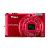 Nikon Coolpix S6500 16 Megapixel Digital Camera - Red