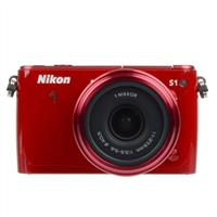 Nikon 1 S1 10 Megapixel ILC Digital Camera with 11-27.5mm Lens - Red