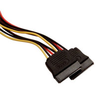 "Kingwin 8"" Molex 4-Pin Male to Dual 15-Pin SATA Power Cable"
