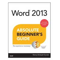 Sams WORD2013 BEGINNER'S GUIDE
