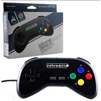 Super Retro RDP SNES Controller Black