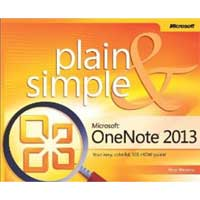 Microsoft Press ONENOTE 2013 PLAIN SIMPLE