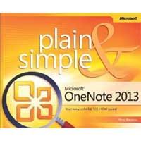 Microsoft Press ONENOTE 2013 PLAIN SIMPLE