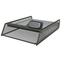 "Allsop Metal Mesh Letter Tray 8.5"" x 11"" with Mobile Device Holder"