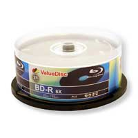 ValueDisc BD-R 6X 25GB Disc 25 Pack