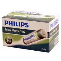 Philips Heavy Duty AA Zinc-Chloride Battery 24-Pack
