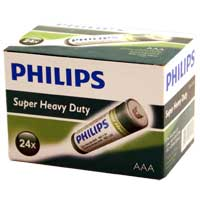 Philips Heavy Duty AAA Zinc-Chloride Battery 24-Pack