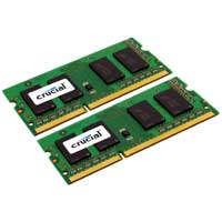 Crucial 8GB DDR3-1333 (PC3-10600) CL9 SO-DIMM Laptop Memory Kit (Two 4GB Memory Modules)