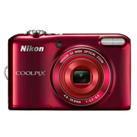 Nikon Coolpix L28 20 Megapixel Digital Camera - Red
