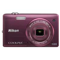 Nikon Coolpix S5200 16 Megapixel Digital Camera - Plum