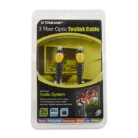 Xtreme Cables 3ft Fiber Optic Toslink Cable