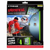 Xtreme Cables Survival Durable Protection Case for the iPad - Black/Green
