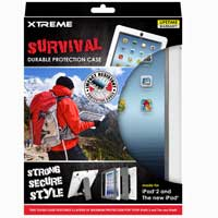 Xtreme Cables Survival Durable Protection Case for the iPad - White/Gray
