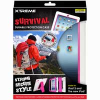 Xtreme Cables Survival Durable Protection Case for the iPad - White/Pink