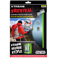 Xtreme Cables Survival Durable Protection Case for the iPad Mini - Black/Green