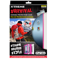 Xtreme Cables Survival Durable Protection Case for the iPad Mini - White/Pink