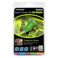 Xtreme Cables 1-Amp USB Car Charger Green
