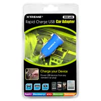 Xtreme Cables 1-Amp USB Car Charger Blue